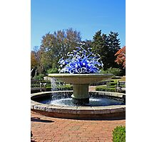 Glass Sculpture in Fountain Photographic Print