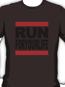 Run-F.Y.L. in black font T-Shirt