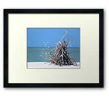 Teepee by the Sea Framed Print