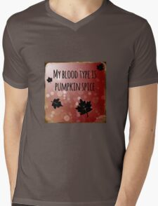 My Blood Type is Pumpkin Spice Mens V-Neck T-Shirt