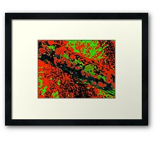 Comic Book Abstract Framed Print