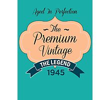 The Premium Vintage 1945 Photographic Print