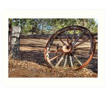 Wagon Wheel In Colour Art Print
