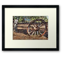 Wagon Wheel In Colour Framed Print