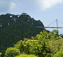Cable Car - Langkawi by Colin  Ewington