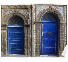 Moroccan Doors Poster