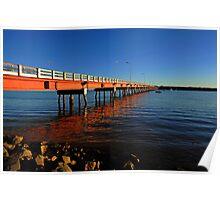 Bribie Island Bridge. Queensland, Australia. Poster