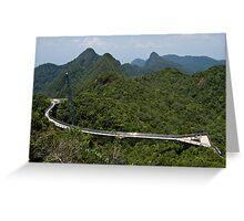 Sky Bridge - Langkawi Greeting Card