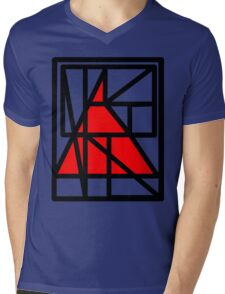 TriRed Mens V-Neck T-Shirt