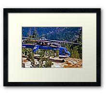 Helicopter Logging 2 Framed Print