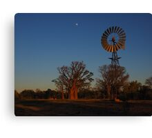 Sunrise at the windmill Canvas Print