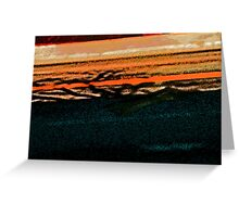 Pueblo Downtown Street Abstract Greeting Card
