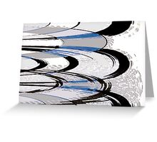 Records Abstract Greeting Card