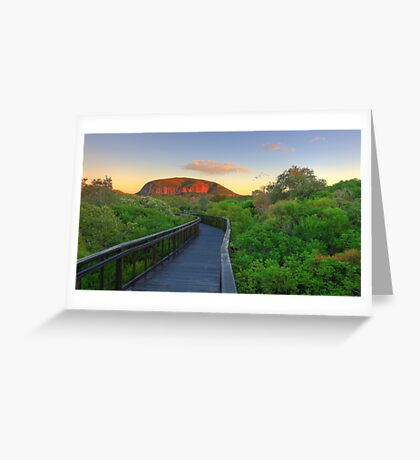 First Rays on Coolum Greeting Card