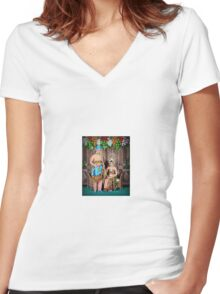 wedding 1 Women's Fitted V-Neck T-Shirt