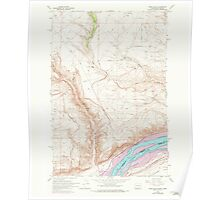 USGS Topo Map Washington Wood Gulch 244778 1962 24000 Poster
