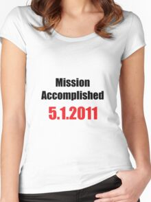 Mission Accomplished Women's Fitted Scoop T-Shirt