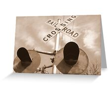 Railroad Signal Greeting Card