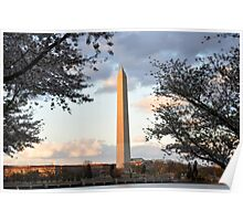 washington monument in april Poster
