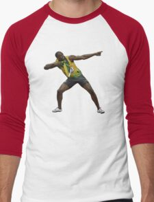 Usain Bolt Tribute Men's Baseball ¾ T-Shirt