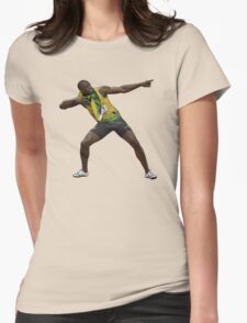 Usain Bolt Tribute Womens Fitted T-Shirt