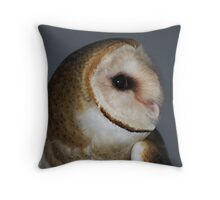 "Barn Owl - ""Casper"" Throw Pillow"