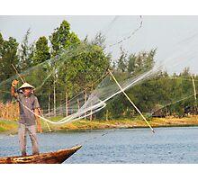 Gone Fishing Vietnamese Style Photographic Print