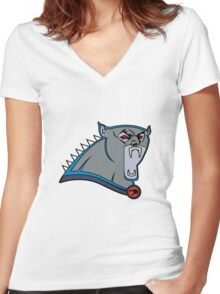 Carolina Panthros Women's Fitted V-Neck T-Shirt