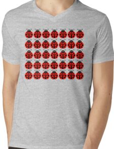Lady birds Mens V-Neck T-Shirt
