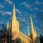 Portland Oregon LDS Temple by Nick Boren