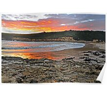 Sundown Port Campbell Bay Poster
