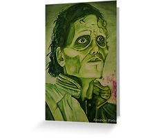 "Micheal Jackson ""Thriller"" Greeting Card"