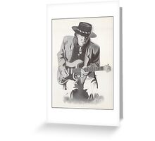 Stevie Ray Vaughan Portrait Greeting Card