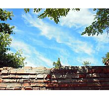 Detail of a blue sky with clouds Photographic Print