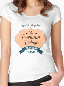 The Premium Vintage 1958 Women's Fitted Scoop T-Shirt