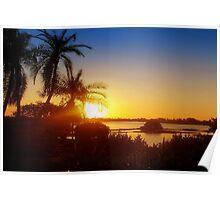 Lingering sun rays Poster