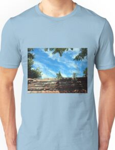 Frame of a blue sky with clouds Unisex T-Shirt