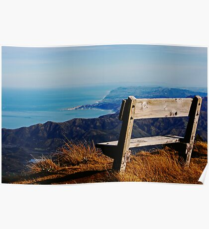 Mount Fyffe Summit, Kaikoura, New Zealand Poster