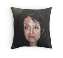 Pensive Woman Throw Pillow