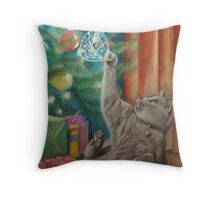 Too much Christmas pud! Throw Pillow