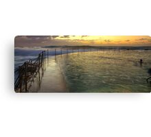 Autumn Swim - Bronte Baths Canvas Print