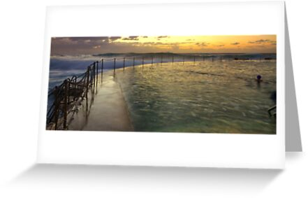 Autumn Swim - Bronte Baths by Mark  Lucey