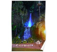 Nightscapes:  Waterfall by night. Poster