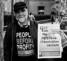 Racisms Ugly Face by Andrew  Makowiecki