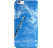 Boom of the crane on a diagonal against a blue sky  iPhone Case/Skin