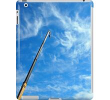 Boom of the crane on a diagonal against a blue sky  iPad Case/Skin