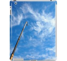 The boom of the crane on a diagonal against a blue sky iPad Case/Skin