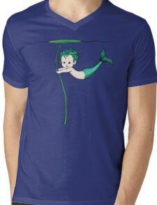 Merbaby Mens V-Neck T-Shirt