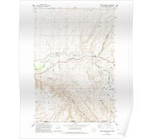 USGS Topo Map Washington Zangar Junction 244841 1991 24000 Poster