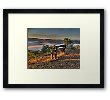 Contemplation Point - Merlin's Lookout, Hill End NSW Australia - The HDR Experience Framed Print